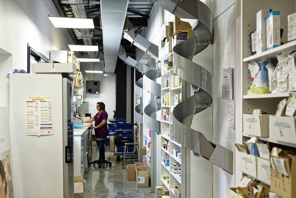 organisation et agencement de pharmacies